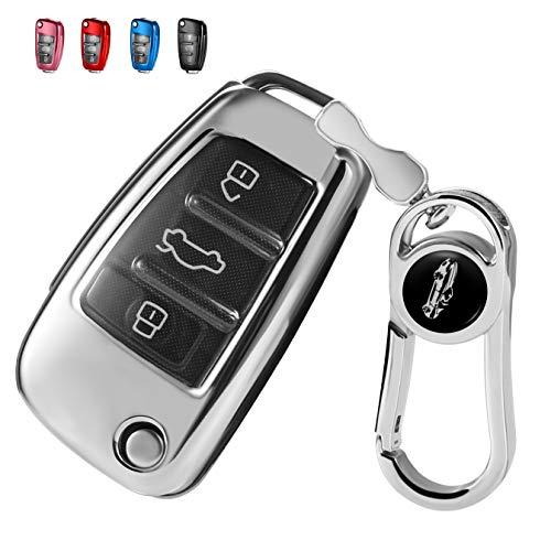 RYE Funda protectora de silicona para llave de coche con 3 botones para Audi A3, A1, S1, S3, RS3, A4