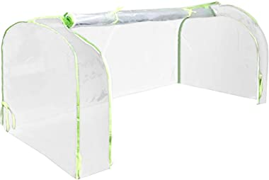 Cheng Yi Protable Mini Greenhouse Cover,Vegetable Succulent Plant Waterproof UV Protected Reinforced Mini Arch Greenhouse Transparent Cover for Indoor and Outdoor,Keep Warm CYFC1447