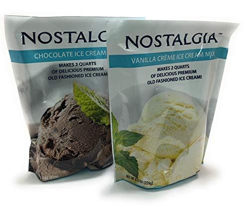 Nostalgia Chocolate and Vanilla Creme Ice Cream Mix, 8 oz Variety Set
