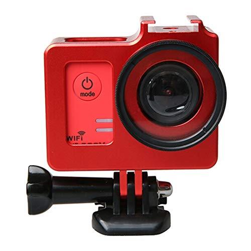 Xyamzhnn Diámetro del Caso de la cámara aleación de Aluminio Universal de protección con 40.5mm Lente y de la Lente de la cámara Tapa Protectora WiFi Deporte de la acción (Color : Red)