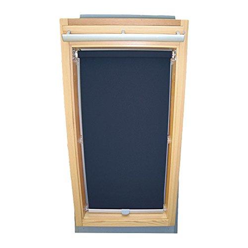 Easy-Shadow Dachfenster Sichtschutzrollo Basis Rollo für Typ Fakro FT/FTP/PK/FK/FE/FL/PTP Größe 04 – 66/118 (Glasmaß 50,0 x 101,3 cm) - in der Farbe dunkelblau