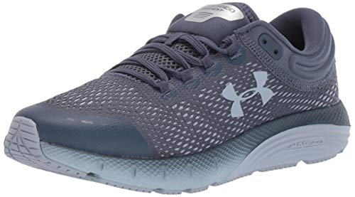 Under Armour Women's Charged Bandit 5 Running Shoe, Downpour Gray (401)/Black, 6