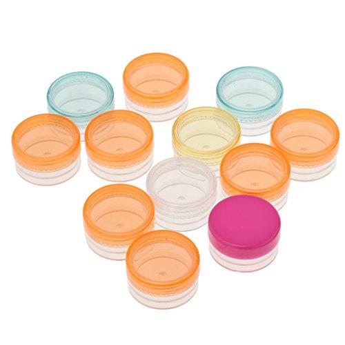 Sharplace 20pcs Pot Cosmétiques Jar Vide en Plastique Récipient de Maquillage Échantillon Rechargeable - Fond rond 3g