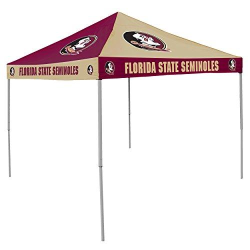 Logo Brands NCAA Florida State Seminoles 9 x 9 Foot Pinwheel Tailgating Canopy, Garnet/Gold, One Size