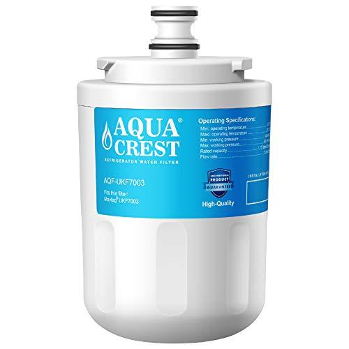 AQUACREST UKF7003 Filtros de agua para frigorífico, Compatible para Maytag UKF7003, UKF7003AXX, UKF7003AXXP, UKF7002AXX, UKF7001AXX, UKF7001, 7001, UKF6001AXX, UKF6001, UKF5001AXX, Whirlpool EDR7D1