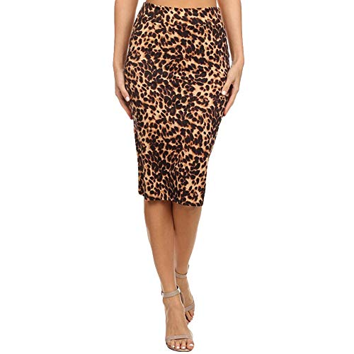 CoURTerzsl Vestido, Moda Casual Mujer Leopardo de Cintura Alta Bodycon Mini Sexy Falda lápiz Leopard M