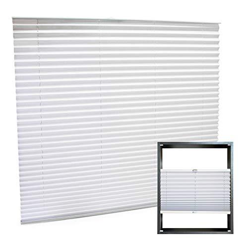 Estor plisado color blanco 120x150cm Persiana interior Cortina enrollable Celosía para ventana