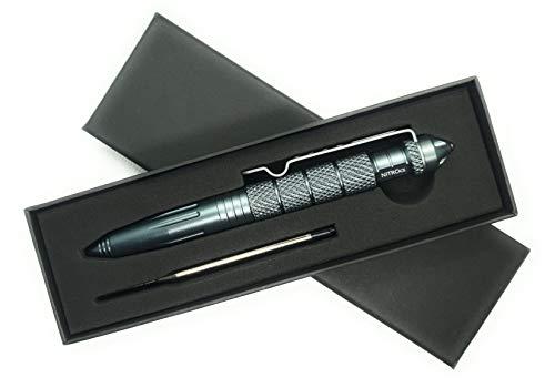 NITROcs Survival Taktischer Business Kugelschreiber mit Glasbruch Spitze aus hartem Stahl - Aluminium Körper