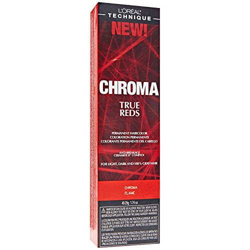 Loreal Chroma True Reds Hair Color - Flame 1.74 Ounce (51ml) (2 Pack)