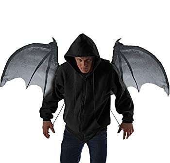 California Costumes unisex adult Wicked Wings Costume Accessory Gray/Black One Size US