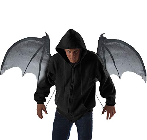 California Costumes unisex adult Wicked Wings Costume Accessory, Gray/Black, One Size US