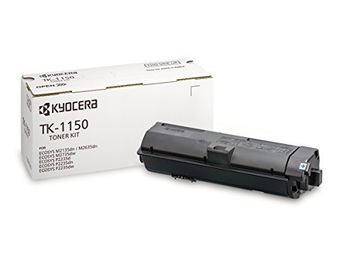 Kyocera TK-1150 originele tonercartridge zwart 1T02RV0NL0. Compatibel met ECOSYS M2135dn, ECOSYS M2635dn, ECOSYS M2735dw, ECOSYS P2235dn, ECOSYS P2235dw