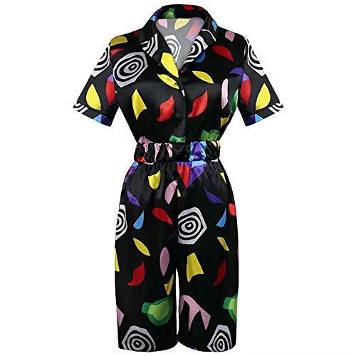 Stranger Things Mall Eleven Cosplay Kostüm Overall Strampler für Frauen, Halloween Rollenspiel Staffel 3 Sommer Kurzarm Kleid Outfit