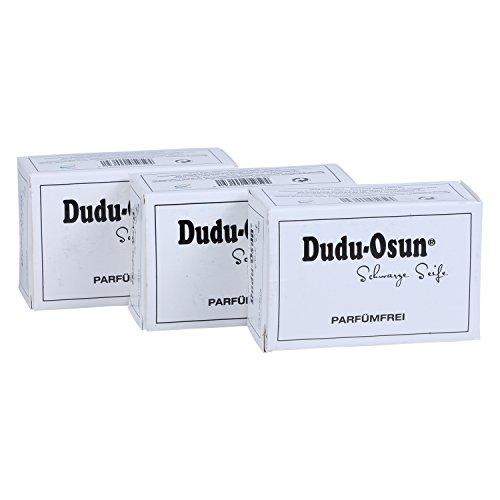 Dudu-Osun Pure (parfümfrei) - Schwarze Seife aus Afrika (3 x 150 g)