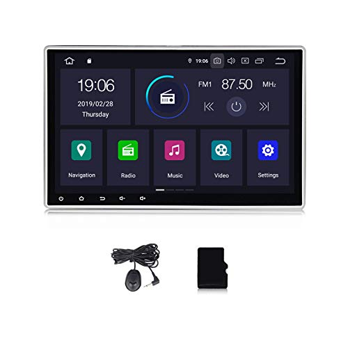 Android 10.0 OS 10.1 InchIPS Screen Car Stereo DSP 2G RAM Car Radio for Universal Car Touch Screen Car Multimedia Navigation Support Bluetooth WiFi 1Din Stereo with Mic Map Update