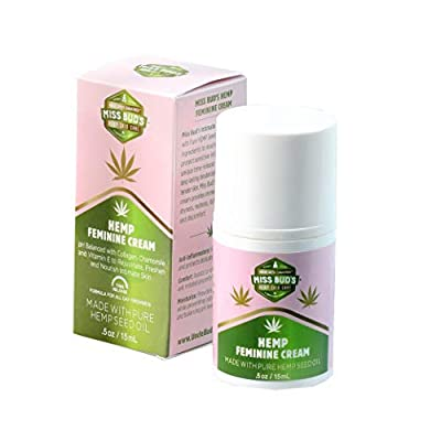 Miss Bud's Organic Hemp Intimate Feminine Vulva Cream Relieves Itching, Burning, and Redness Helps Maintain Balanced pH Levels Travel Size by Miss Bud's