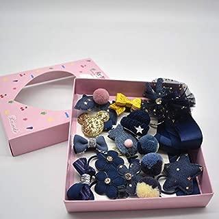 MJPA 18 Pcs/Box New Kids Children Accessories Hairpins Barrettes Baby Fabric Bow Flower Headwear Hair Clips Girls Headdress (Color : Beige)