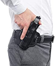 DADDYAMMO Glock 19 Holster OWB Holster - Genuine Leather Right-Hand - Glock 19x Accessories of Premium Quality