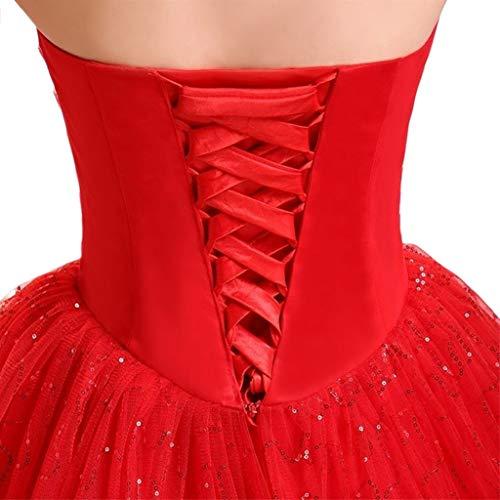 JOYKK 118 Pouces Robe de mariée de Remplacement réglable Corset Dos kit Lacets Cravates de Ruban de Satin pour la Robe de soirée Banquet de mariée - 2# Rouge