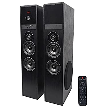Rockville TM80B Bluetooth Home Theater Tower Speaker System w/(2) 8  Subwoofers!