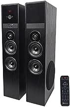Rockville TM80B Black Home Theater System Tower Speakers 8