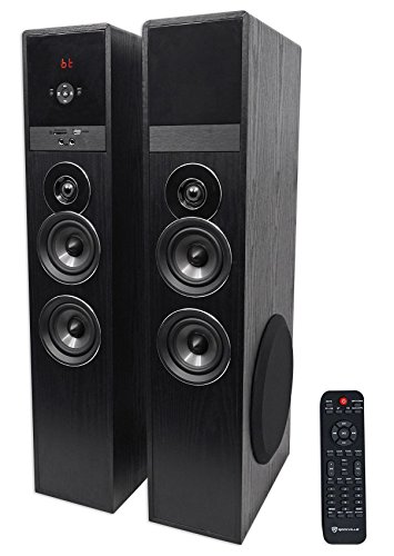Rockville TM80B Black Home Theater System Tower...