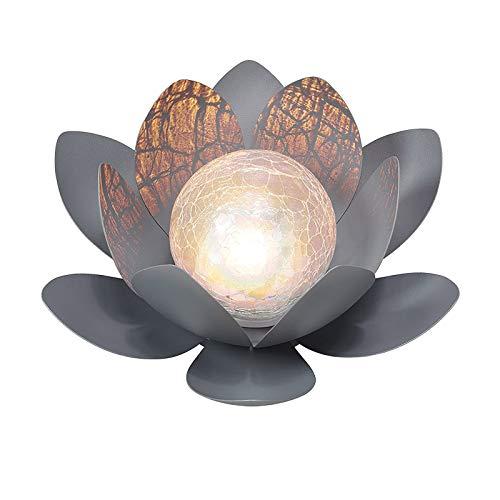 Led metal solar flower outdoor glass ball decoration dreamy lighting effect (B-1pc)