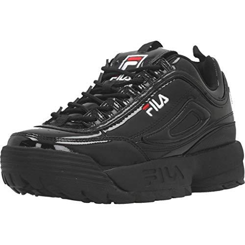 Fila Damenschuhe Sneakers Disruptor P Low WMN aus schwarzem Leder 1010746-12V