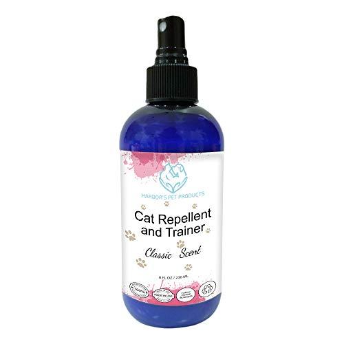 Harbor's Cat Repellent and Trainer - Cat Repellent Spray Indoor - 8 oz | Cat Training Spray | Cat Repellent for Furniture | Cat Repellent for Plant | 100% Satisfied or Return for Full Refund