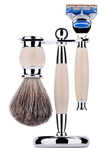 Cadre de rasoir pour étagère pour blaireau rasoir suspendu pour cadre de barbe-White