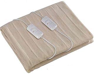 SINOTECH - Manta térmica para Cama de Matrimonio Modelo GD26320 - Calentador de colchón - Calefactor eléctrico Doble de 2 plazas - Regulación de la Cama - Potencia 60 W x 2 - Totalmente Lavable