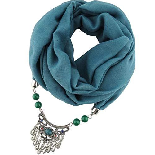 Charms Anhänger Halskette Schal Schmuck Stil Bullet Alloy Match Warm halten Perlen mit Anhänger Schmuck 195 * 60cm tragen