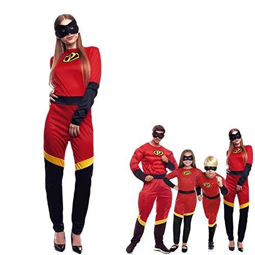 Disfraz Party Héroes Mujer【Tallas Adultos de S a L】[Talla S ] Mono Disfraces Superhéroes Películas con Antifaz Fiesta Disfraz Carnaval Actuaciones Desfiles Festivales
