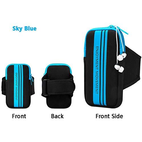 YDFSBB Para 4-6.3 Pulgadas Teléfono Móvil Brazalete Funda De Mano Estuche Gimnasio Deporte Al Aire Libre Bolsa De Correr Brazalete Bolsa para iPhone Se 5S X 7 Plus 8 6S Azul: Amazon.es: