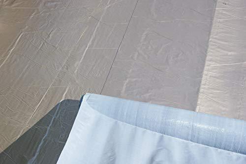 Aluminium Dachfolie KSK selbstklebend grau 5 m² für Flachdachhäuser, Gartenhaus Dach