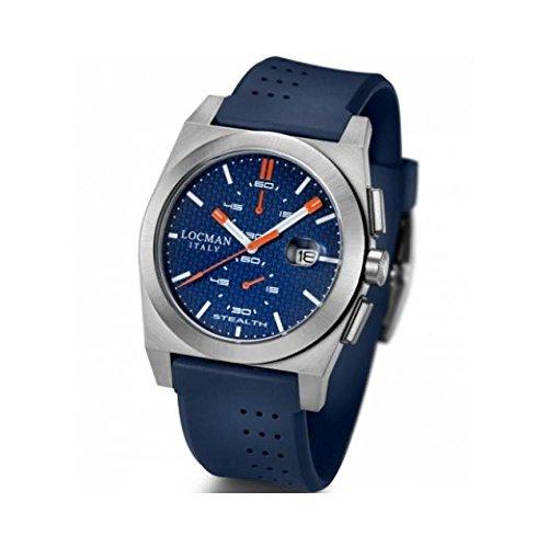 Reloj Locman Stealth 020200kbfor1gob al Cuarzo (batería) Acero quandrante Azul Correa Silicona