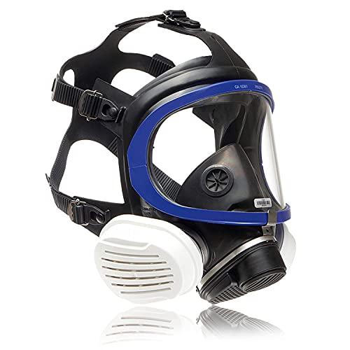 Dräger X-plore 5500 Vollmasken-Set inkl. P3 R Partikelfilter | Universalgröße | Atemschutz-Maske für Handwerker und Heimwerker gegen Fein-Staub/Partikel