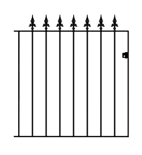 Saxon Spear Top Garden Gates 762mm GAP x 950mm High Wrought Iron Metal swing gate SA05/1