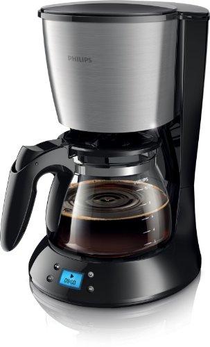 Philips N HD7459/20 - Cafetera (Independiente, Negro, Metálico, Goteo, De café molido, Café, 1,2L)