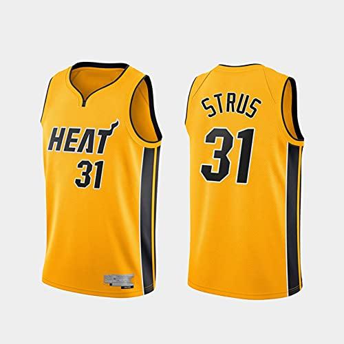 TGSCX Jerseys de Baloncesto para Hombre, NBA Miami Heat 31# Strus Sports Basketball Uniform, Camiseta sin Mangas Chaleco Deportivo, Uniforme de Fan de Unisex,XL