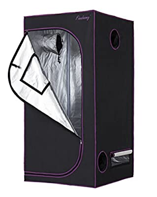 "Finnhomy Multiple Sized Grow Tent 48""x24""x60"" 48""x48""x80"" 36""x36""x72"" 96""x48""x80"" 60""x60""x80"" 600D Mylar Hydroponic for Indoor Plants Growing"