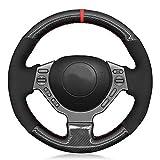 JzyhNzd Für Nissan GTR GT R (Nismo) 2008-2016, Lenkradabdeckung schwarz Carbon Carbon schwarz Wildleder