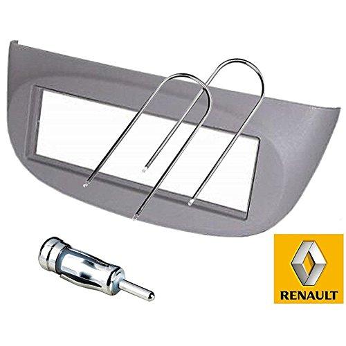 Sound-way Kit Montage Autoradio, Cadre Façade 1 DIN, Adaptateur Antenne, Clés Démontage Compatible avec Renault Twingo, Wind 2 II