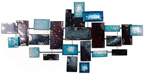 Decorazione da Parete in Metallo, Metal Wall Art Sculpture - Impressioni Geometriche 3D Iron Abstract Wall Appeso per la casa Artwork 3Style (Colore: B),Scultura da Parete (Color : A)