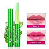 Allbestaye Aloe Vera Jalea Pintalabios Lápiz labial Cambio de temperatura Color Bálsamo labial Palo Hidratante Brillo labial Cuidado de labios