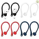 Fumanduo 4Pcs Gancho de Oreja para Auriculares Antipérdida Gancho para Oreja de Silicona para Auriculares Bluetooth Inalambricos con Agujero para Correa para Actividades Deportivas (4 Colores)