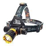 LED-Stirnlampe T6 Unterwasser-Wasserdichte Tauch-Stirnlampe 3800 lm LED Scheinwerfer...