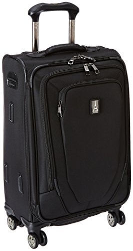 Travelpro Crew 10-Softside Expandable Luggage with Spinner Wheels, Black