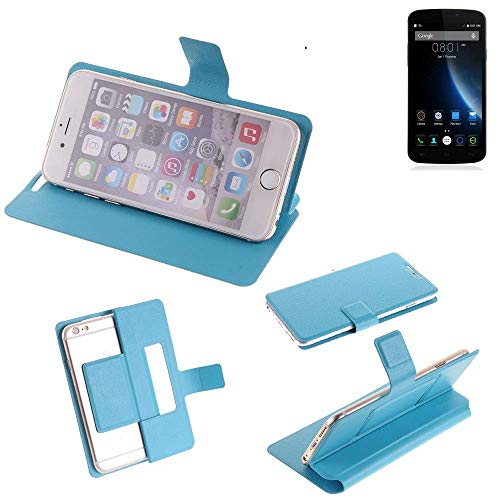 K-S-Trade Flipcover für Doogee X6S Schutz Hülle Schutzhülle Flip Cover Handy case Smartphone Handyhülle blau
