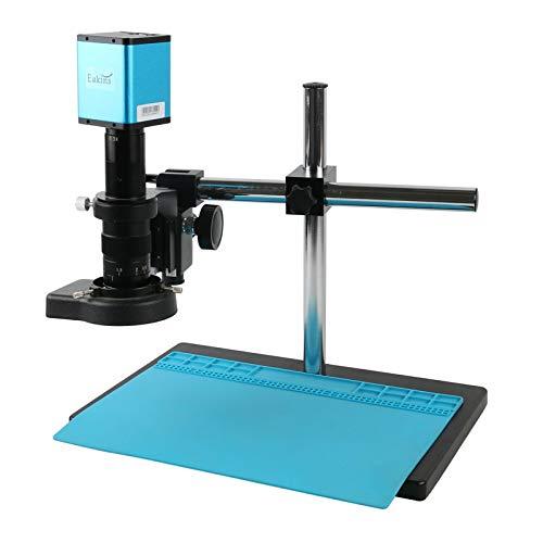Yhtech Conjunto Completo HDMI IMX385 Microscopio de medición Industrial Cámara de microscopio + 180x C Lente de Montaje 144 LED LED + 10.1'Pantalla LCD HD